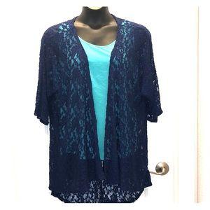 LuLaRoe lace kimono/cover-up